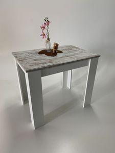 Möbel SD Esstisch Lucie Canyon White  Weiß Pine 86 x 60