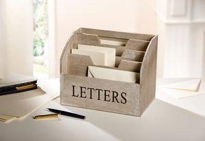 Holz-Box Letters, Maße 24 x 15 x 9 cm