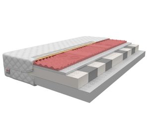 Matratze 140 x 200 cm ROVIGO 9 Zonen H2/H3 Premium Visco Memory Kaltschaum Schaummatratze Höhe ca 16 cm