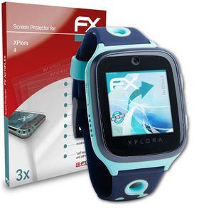 atFoliX FX-ActiFleX 3x Schutzfolie kompatibel mit XPlora 4 Folie