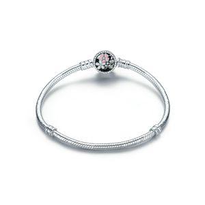 Sterling-Silber Charm-Armband Kirschblüte : Größe in cm - 20