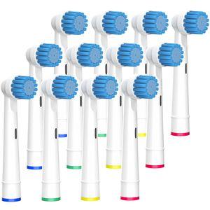 BELADENT Aufsteckbürsten Sensitive passend für Oral-B Zahnbürsten Ersatzbürsten Aufsätze, 12 Stück
