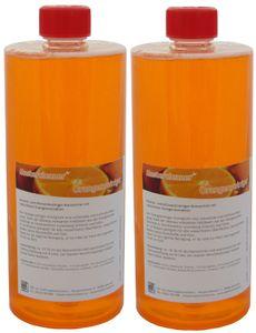 Mastercleaner Orangenreiniger Konzentrat mit nat. Orangenöl, der hochwirksame und kraftvolle Allzweckreiniger 2*1 Liter