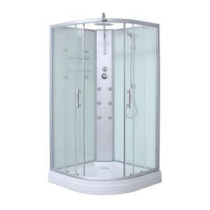 HOME DELUXE - Dusche PLUTO 100x100 cm Duschkabine Duschtempel Regendusche Komplettdusche