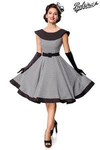 Ärmelloses Premium Vintage Swing-Kleid, Farbe: Weiß/Schwarz, Größe: XL