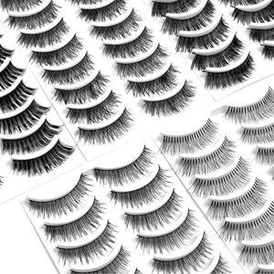 ZQYRLAR Xelparuc Fake Eyelashes Set, 5 Styles 50Pairs Lashes Falsche Wimpern mit Lockenwickler-Wimpernpinzette, wiederverwendbare weiche falsche Wimpern Verwenden Sie Kleber, um die gesamten Augenlider für Frauen zu bedecken. Natürlicher Look