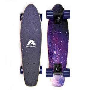 "Apollo Wooden Fancy Board ""Nebula Mini"" Vintage Cruiser aus Holz 22,5''(57,15cm)"