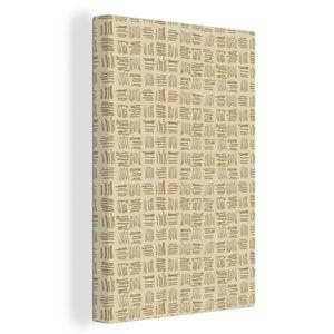 Leinwandbild - Abstrakt - Braun - Muster - 80x120 cm - Foto auf Leinwand - Gemälde auf Holzrahmen