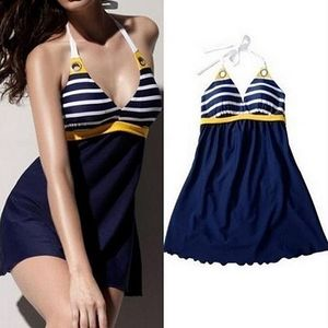 Frauen Sexy Bademode Sailor Style Rock Strand Schwimmen Wear Swim Dress L ALCYONEUS1