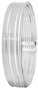 Stylischer 925 Sterling Silber Damen - Armreif - 16mm, 23 Gramm; WJS21945