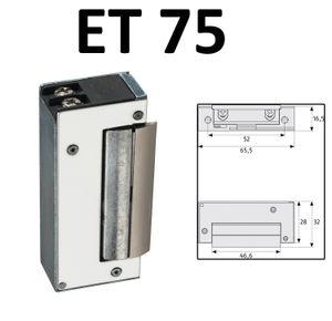 ABUS Elektrischer Türöffner ET 70/75/80/85 12V AC Elektro Schloss elektrisch Öffner Sicherheitstür ET75 EK