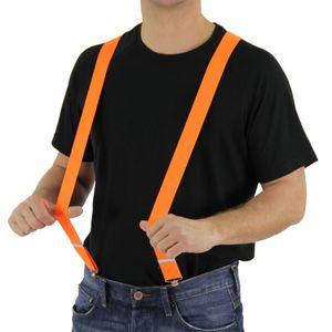 80er Jahre Hosenträger neon orange Kostüm Fasching Hosen Träger