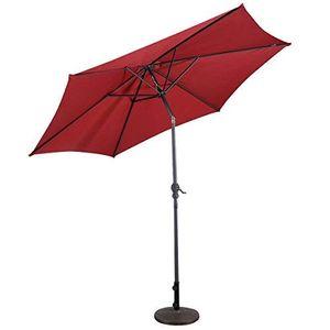 COSTWAY Sonnenschirm Ampelschirm Gartenschirm Kurbelschirm Strandschirm Garten Schirm mit Kurbel 3M rot