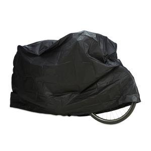 relaxdays 1 x Fahrradgarage schwarz, Schutzhülle wetterfest, Staubschutz Abdeckung robust