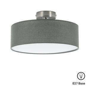 Deckenleuchte Stoffleuchte 1 x E27 max. 40W Grau-Satin Ø30cm Briloner Leuchten
