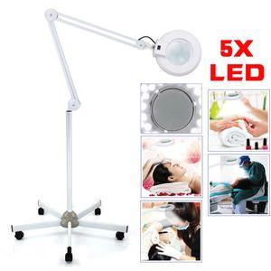 Kaltlicht LED Lupenleuchte Lupenlampe 5x Dioptrien Standlupe Kosmetik Weiß 15W G
