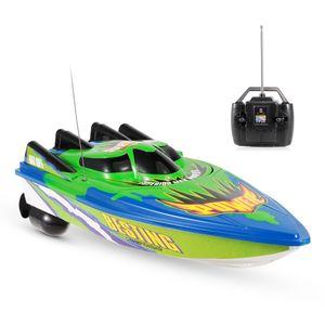 RC Boat Hochgeschwindigkeits-Boot, ferngesteuertes Spielzeug fuer Kinder und Anfaenger, ferngesteuertes Boot fuer Seen und Pools