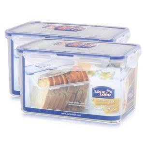 Lock&Lock HPL818 Vorratsdose 1,9L - Luft und Wasserdicht - rechteckig (2er Pack