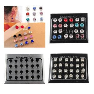 36 Paar Klare Zirkonia Ohrringe Aus Rostfreiem Stahl Mit Magnetischen Ohrsteckern