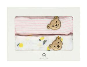 STEIFF® Baby Mädchen 2er Set Mulltücher, Größe:50 x 50 cm, Präzise Farbe:Rosa
