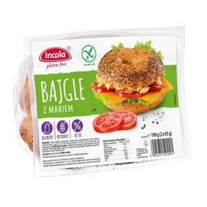 YULKA  | BAGEL mit Mohn 190g (2x95g) | Glutenfrei, ohne Laktose, Sojafrei