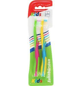 La Ligne Zahnbürste Kids 2 Kinderzahnbürsten in kunterbunten Farben