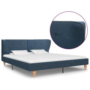 Bettgestell Blau Stoff 180x200 cm