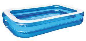 Familien Swimming Pool Planschbecken Kinderpool Schwimmbecken 262x175x50 cm