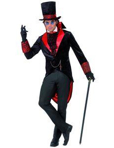 Dracual Kostüm, Rot/Schwarz, Größe:M