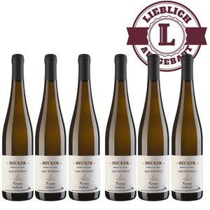 Weißwein Rheinhessen Kerner Weingut Becker Qualitätswein lieblich ( 6 x 0,75 l)