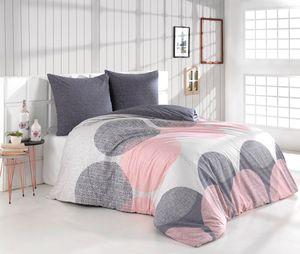 Bettwäsche Bettbezug 200x220 cm, Kopfkissenbezug 80x80 cm  3 teilig Bettgarnitur Bettwäsche - Set  Baumwolle Renforcé mit Reißverschluss