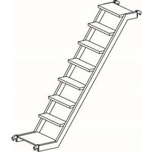 Treppe. Länge 2.50 m. Breite 0.53 m