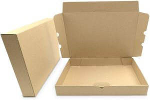 verpacking 100 Maxibriefkartons Versandkartons Faltschachtel Faltkarton Maxibrief 350 x 250 x 50 mm   Braun   MB-5