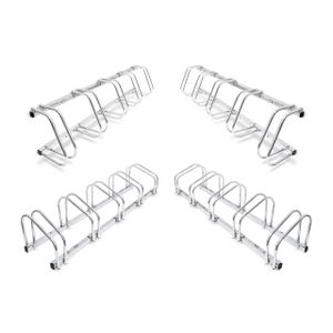 relaxdays 4er Set Fahrradständer Mehrfachständer Fahrradhalter Bügelparker Wand und Boden