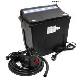SunSun CBF-200T Biofilter 9 W UVC Klärer Teichpumpe 2300 L/h 35 W Teichfilter