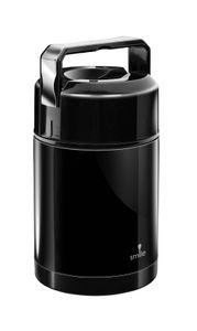 Vakuum Thermobehälter aus Edelstahl, 1L, Warmhaltebox für Lebensmittel, Schwarz