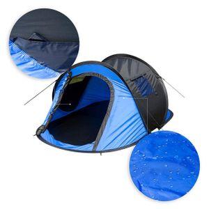 WOLTU Camping Pop Up Zelt Outdoor-Zelt für 2-3 Personen Wurfzelt Sekundenzelt wasserdicht mit Tragetasche 145x240x100cm