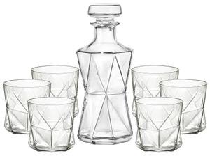 Bormioli Whisky Gläserset Cassiopea 7-teilig