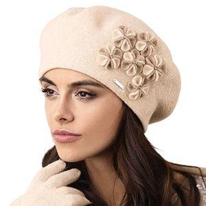 Gorycja Baskenmütze Kopfbedeckung, Mütze:Beige