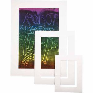 Passepartout-Rahmen, Weiß, A3,A4,A5, Stärke: 0,4 mm, 270 g, 75 Stck./ 1 Pck.