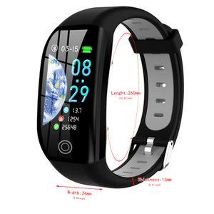 Intelligentes Armband GPS-Track Herzfrequenz Bluetooth-Uhr Mit Großem Bildschirm Grau