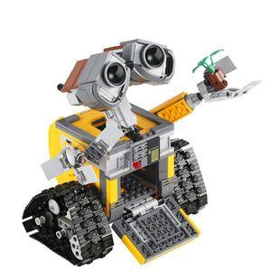 SanBeans Disney Movie Die Idee Roboter 687Pcs WALL E Bausteine High-Tech-Figuren WALL E Modell DIY Lernspielzeug für Kinder Kinder | Blöcke