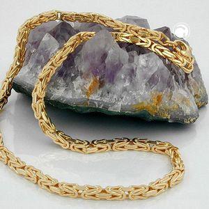 Königskette 2,5x2,5mm 14Kt GOLD 50cm