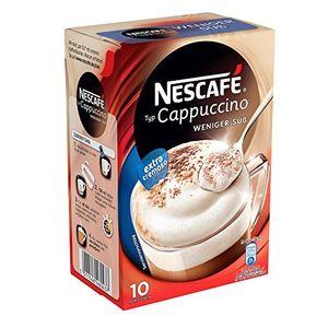 Nescafe Typ Cappuccino Weniger süß Löslich im Portionsbeutel 4er Pack