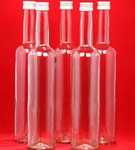 BOR-350 12 Leere Glasflaschen 350ml Schraubverschluss Flasche BOR