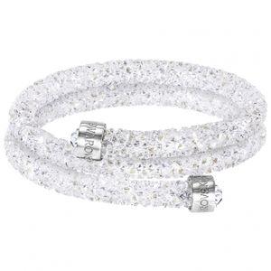 Swarovski Crystaldust Armreif Double, White M 5237754