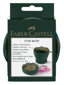 FABER-CASTELL Wasserbecher CLIC & GO dunkelgrün