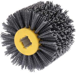 Nylonbürste Drahtziehrad Pinsel Polierbürste für Satiniermaschine Schwarz Schleifbürste Borstenbürste Grit Bürste