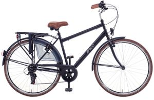 Amigo Style - Cityräder für Herren 28 Zoll - Herrenfahrrad geeignet ab 180-185 cm - Citybike mit Shimano 6 Gang-Schaltung - Schwarz