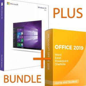 Microsoft Windows 10 Pro Bundle inkl. Office 2019 Professional Plus Bürosoftware